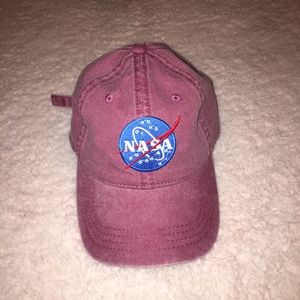 Faded Maroon NASA Patch Cap